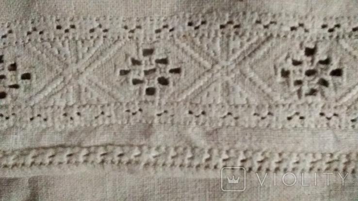 Старинная  вышиванка белым по белому с вырезанием., фото №10