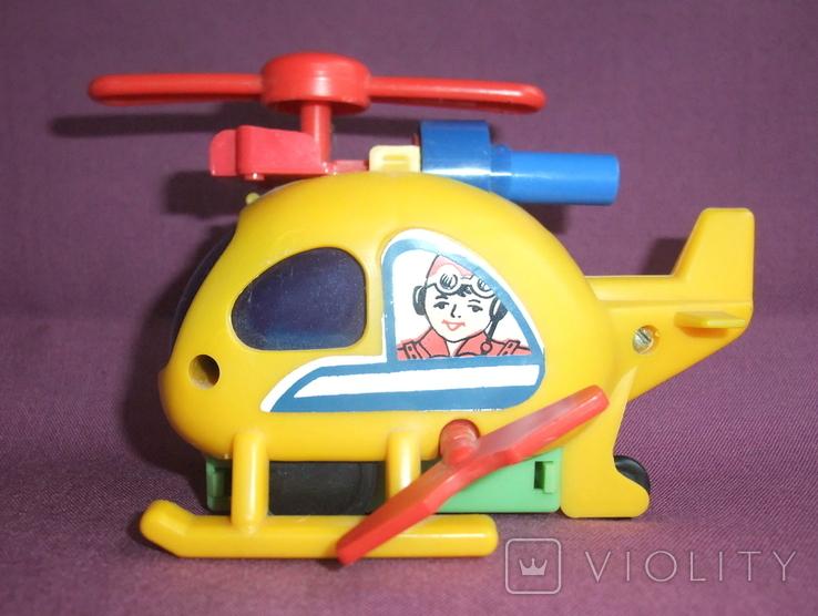 Вертолёт - заводная детская игрушка из СССР., фото №3