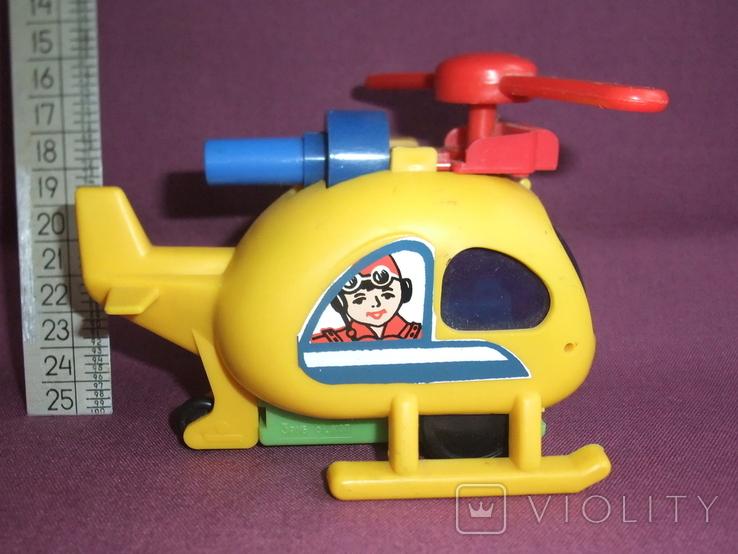 Вертолёт - заводная детская игрушка из СССР., фото №4
