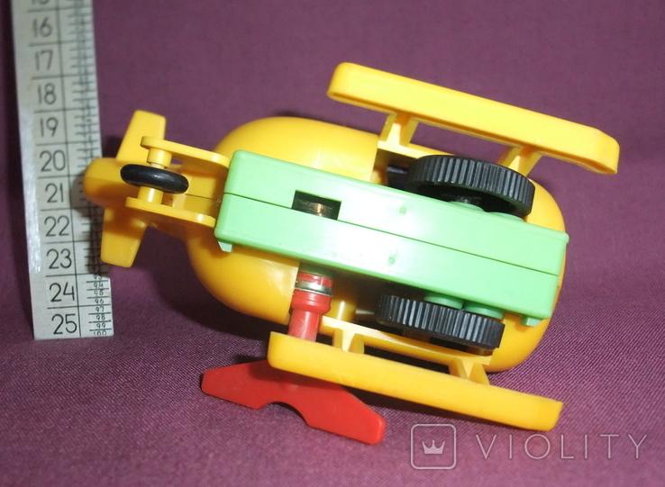 Вертолёт - заводная детская игрушка из СССР., фото №5
