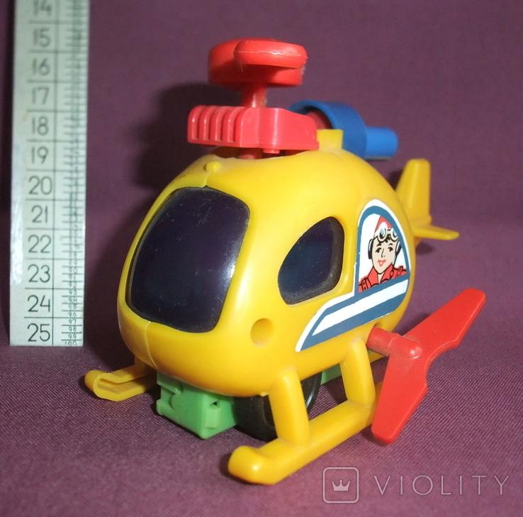Вертолёт - заводная детская игрушка из СССР., фото №7