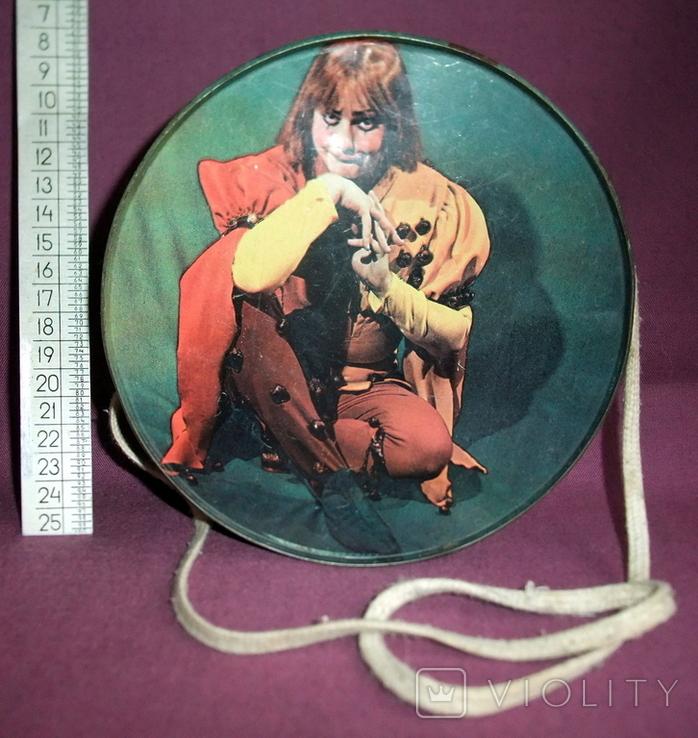 Барабан КЛОУН - детская игрушка из СССР., фото №4