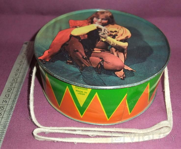 Барабан КЛОУН - детская игрушка из СССР., фото №2