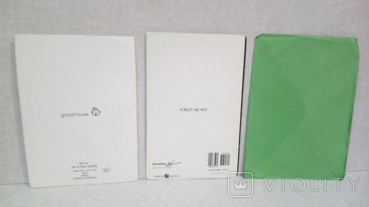 Открытки иностранные 5 шт + конверт, фото №5