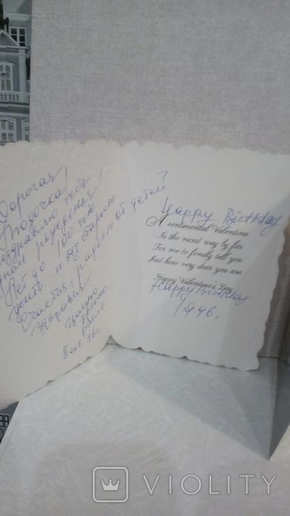 Открытки иностранные 5 шт + конверт, фото №6