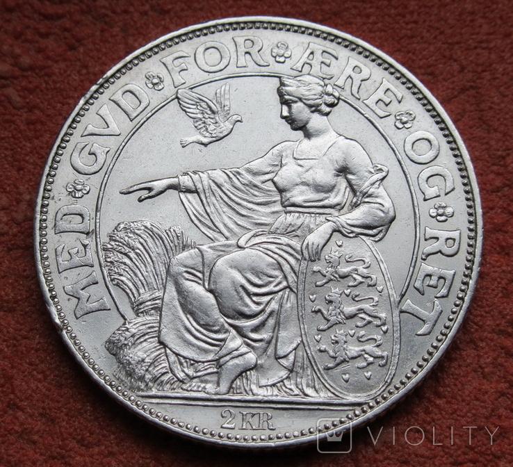 2 кроны 1903 г. Дания, серебро, фото №4