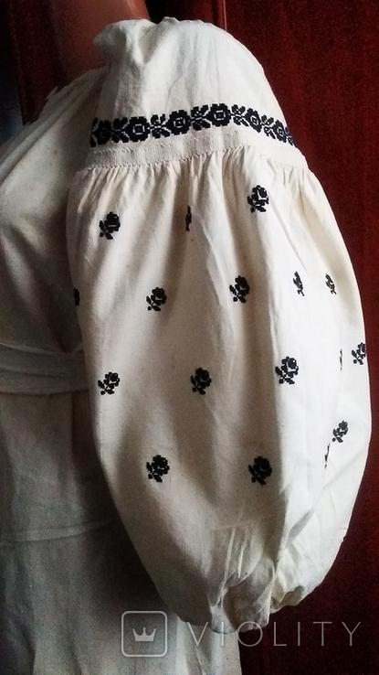 Старинная вышиванка черная нитка ( Сумщина), фото №2
