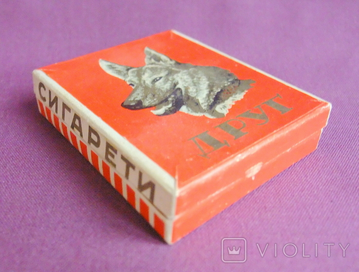 Пачка от сигарет ДРУГ Львовская табачная фабрика ГОСТ 1958 г., фото №3