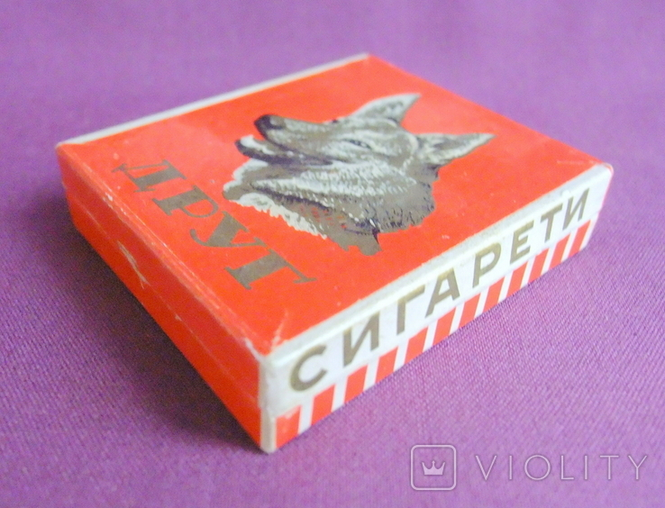 Пачка от сигарет ДРУГ Львовская табачная фабрика ГОСТ 1958 г., фото №4