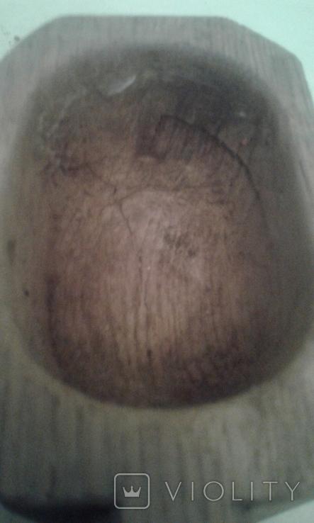 Деревянная-ступка-вес-900гр, фото №6