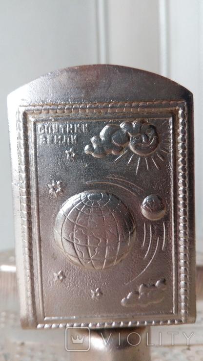 1495 спичечница спичечник пепельница ссср космос ракета спутник земли серп и молот солнце, фото №8