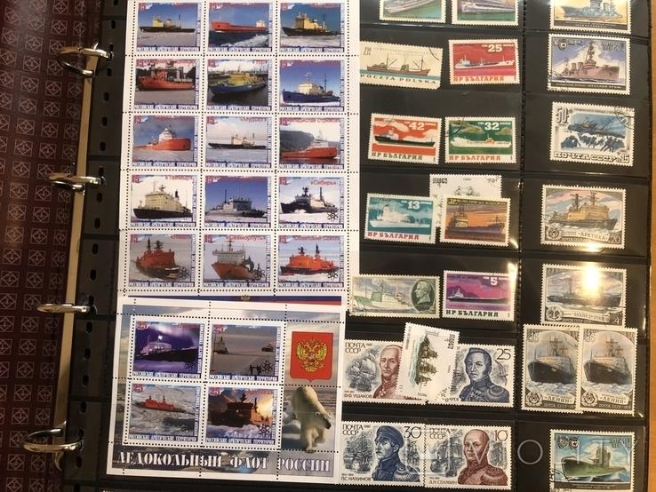 Альбом (39/37 см) с марками . Корабли. Разные страны мира., фото №4