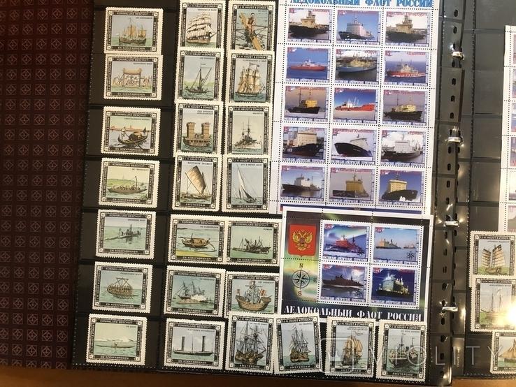 Альбом (39/37 см) с марками . Корабли. Разные страны мира., фото №5