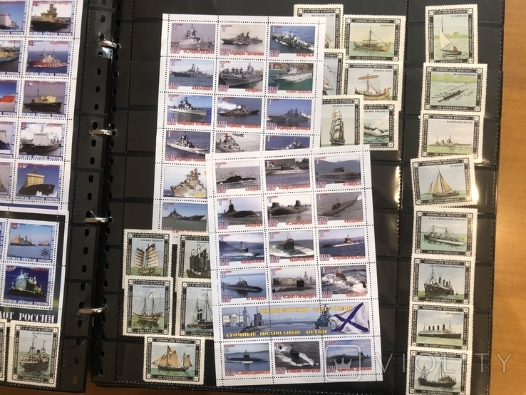 Альбом (39/37 см) с марками . Корабли. Разные страны мира., фото №6
