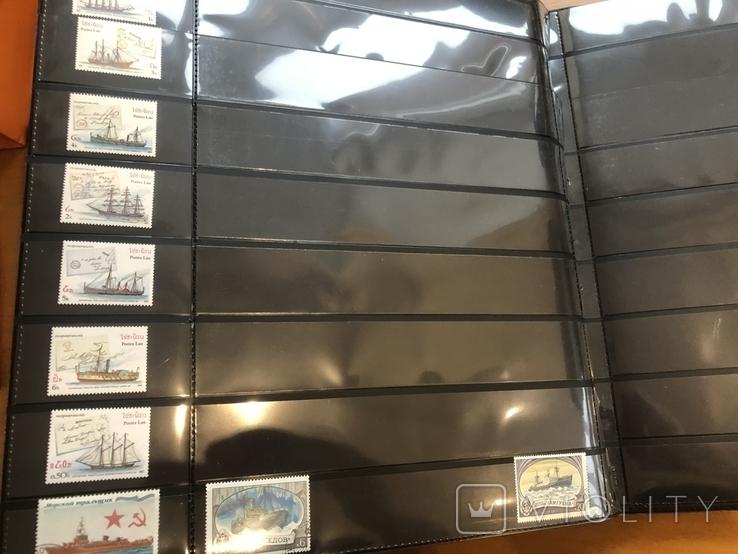 Альбом (39/37 см) с марками . Корабли. Разные страны мира., фото №10