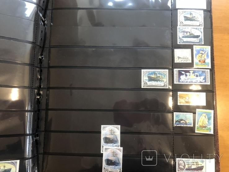 Альбом (39/37 см) с марками . Корабли. Разные страны мира., фото №12