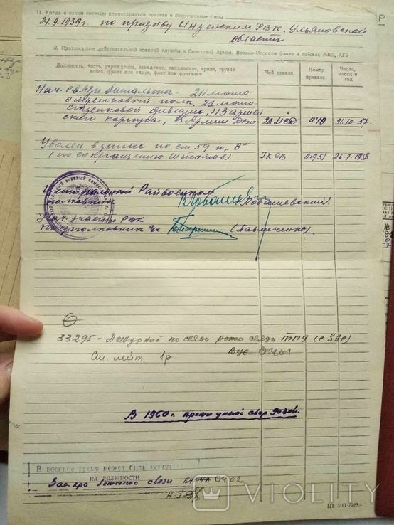 Личное дело Дудоров Войска связи, фото №4