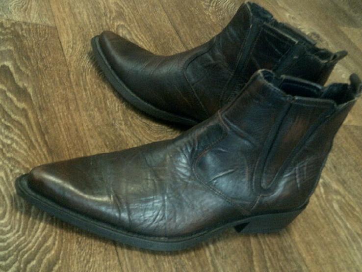 Porto Leone - фирменные кожаные ботинки разм.40, фото №3