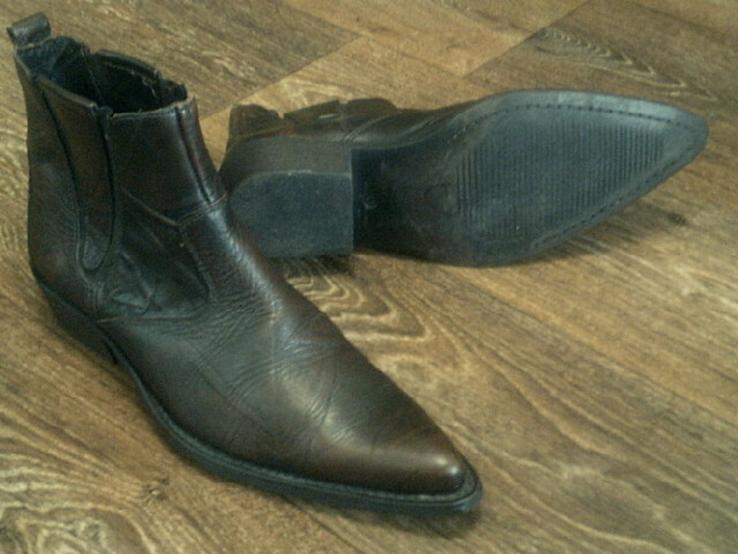 Porto Leone - фирменные кожаные ботинки разм.40, фото №2