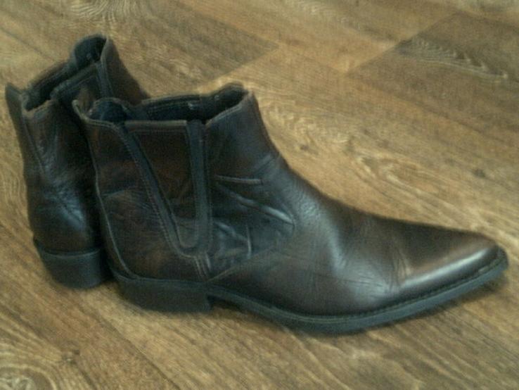 Porto Leone - фирменные кожаные ботинки разм.40, фото №8