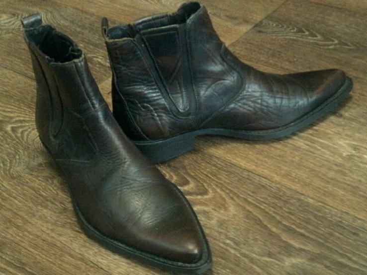 Porto Leone - фирменные кожаные ботинки разм.40, фото №11
