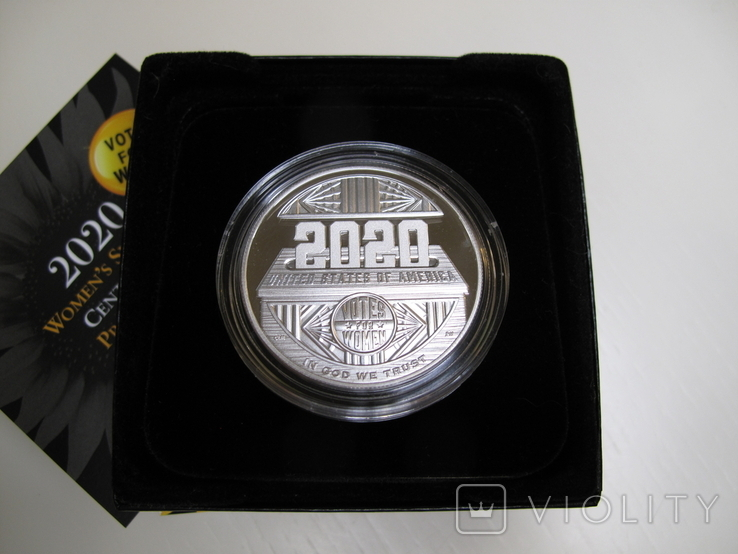 """1 доллар США (серебро): """"Суфражистки"""" (2020 г.), фото №6"""