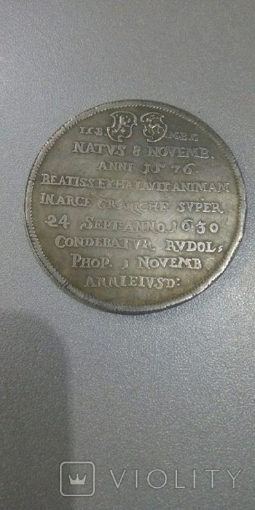 Траурная медаль Шварцбург 1576-1630 Карл Гюнтер 1, копия, фото №3