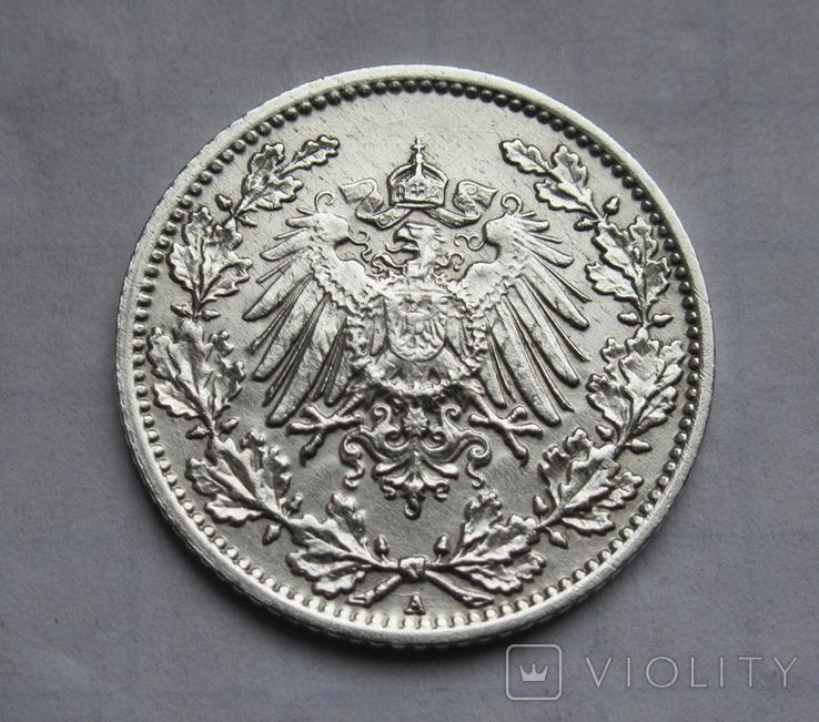 1/2 марки 1919 г. (А) Германия, серебро, фото №7