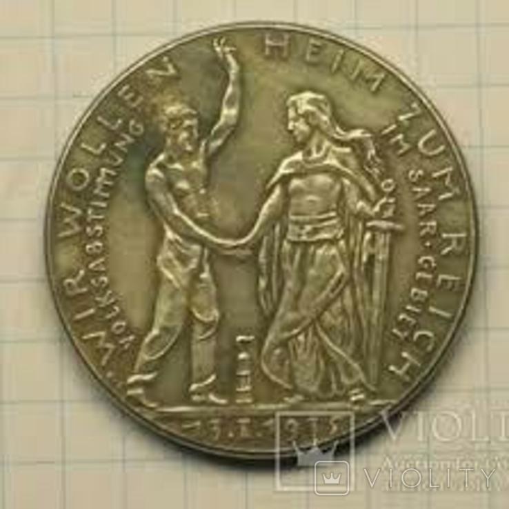 Монета рейх 13.01.1935 копия, фото №3