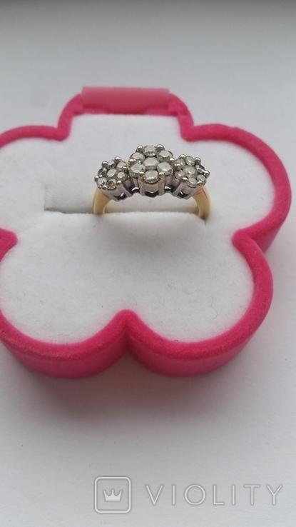 Кольцо. Золото бриллианты, фото №2