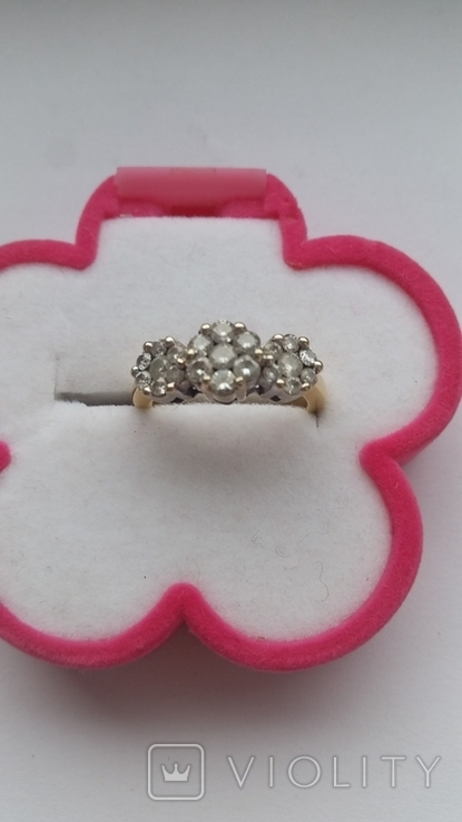 Кольцо. Золото бриллианты, фото №5