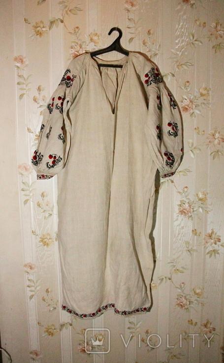Старинная льняная сорочка, фото №2