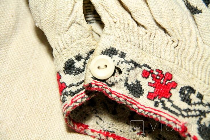 Старинная льняная сорочка, фото №6