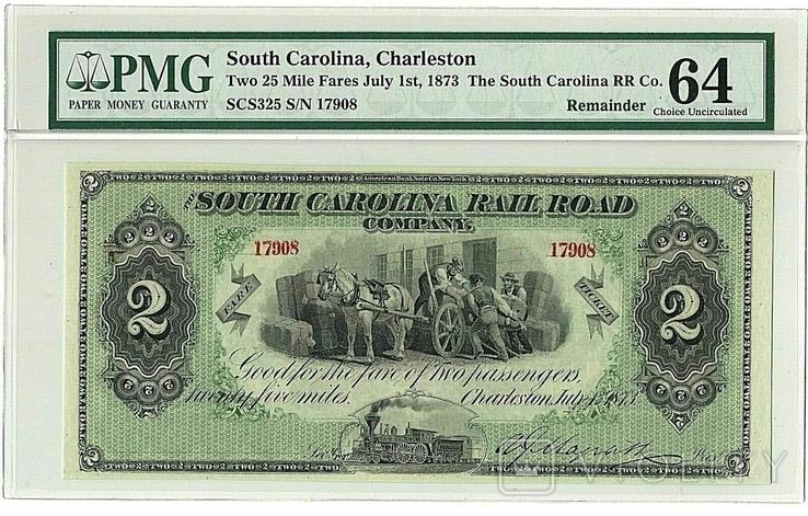 South Carolina, Charleston, 1873 рік, PMG 64.