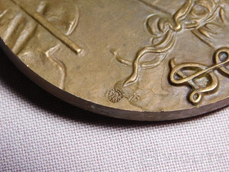 Настольная медаль. Делакруа. ММД 1975. Диаметр 6 см, фото №4
