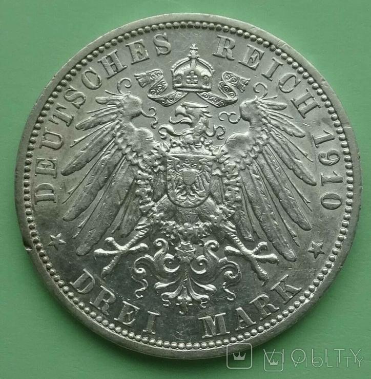 3 марки. Гессен. 1910 год., фото №5