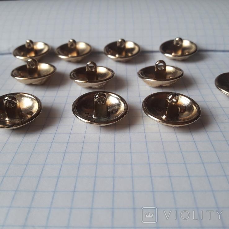 Комплект металлических пуговиц с фрака герб корона. Франция. 10 + 1 шт., фото №10