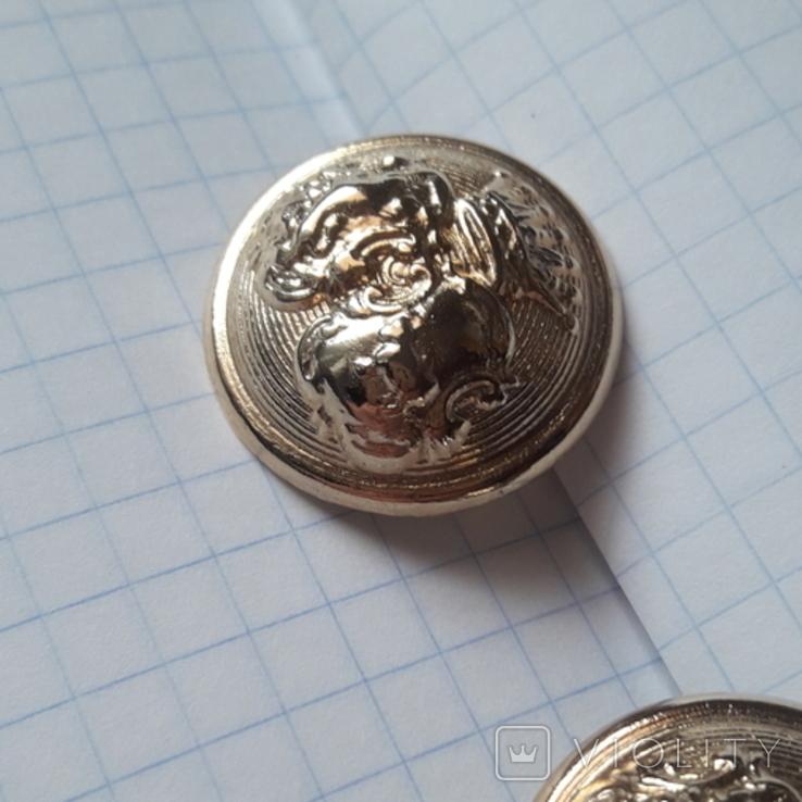 2 пуговицы с фрака герб корона. Франция 26 мм, фото №4