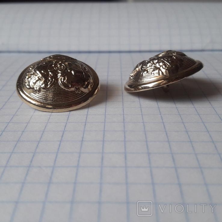 2 пуговицы с фрака герб корона. Франция 26 мм, фото №8