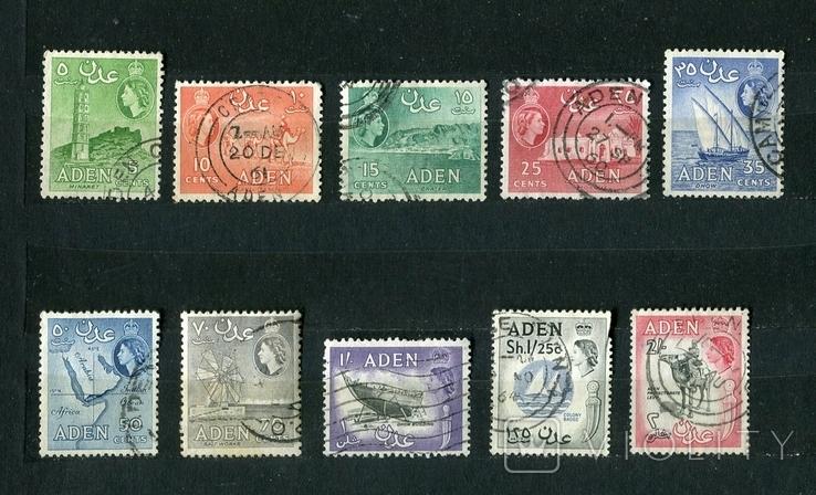 Британские колонии, Аден. 1953-64 г. Елизавета II, фото №2