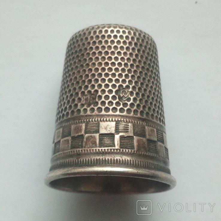 Наперсток старинный серебро Европа 800 проба, фото №3