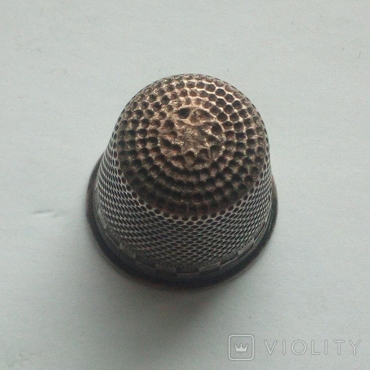 Наперсток старинный серебро Европа 800 проба, фото №4