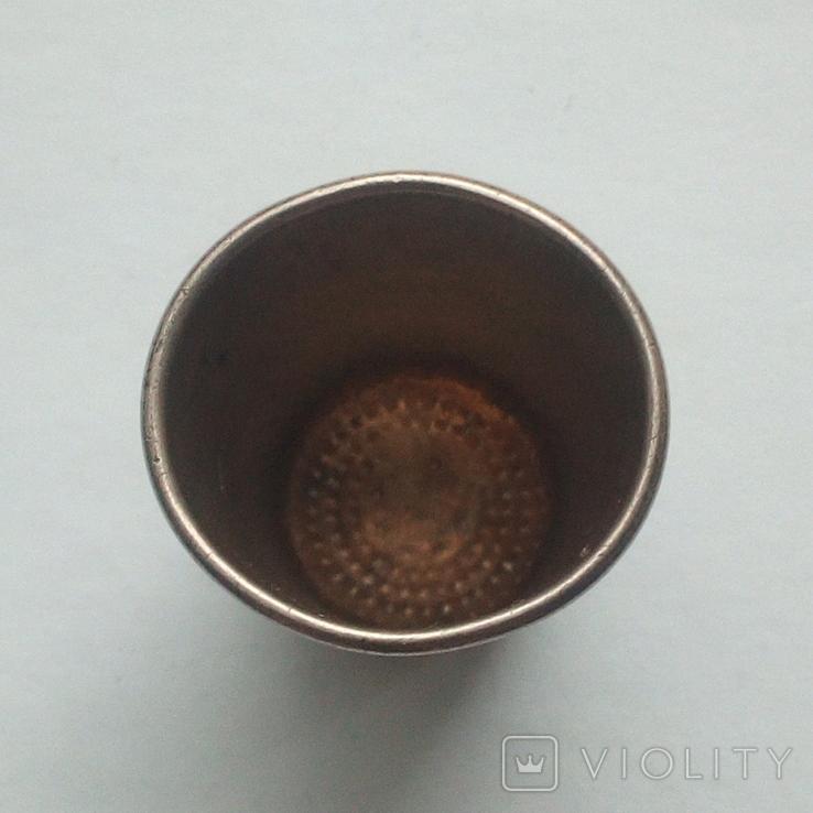 Наперсток старинный серебро Европа 800 проба, фото №5