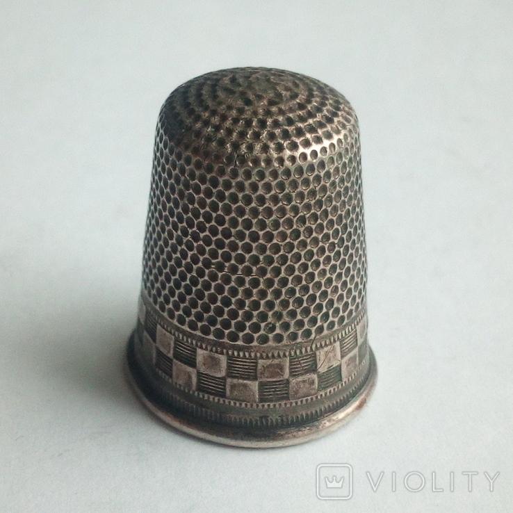 Наперсток старинный серебро Европа 800 проба, фото №6