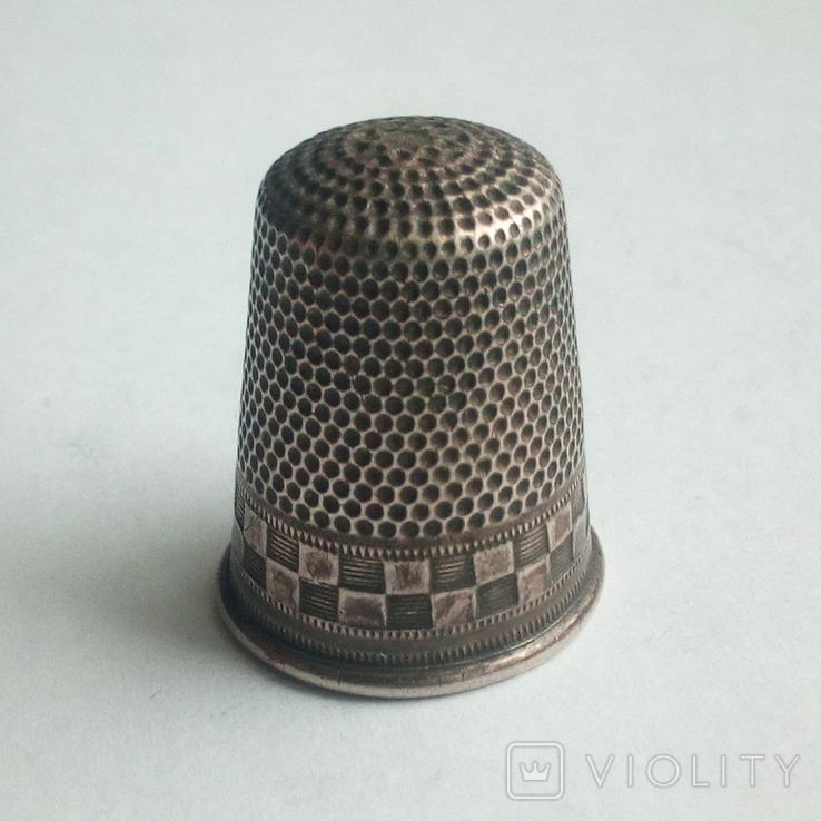 Наперсток старинный серебро Европа 800 проба, фото №7