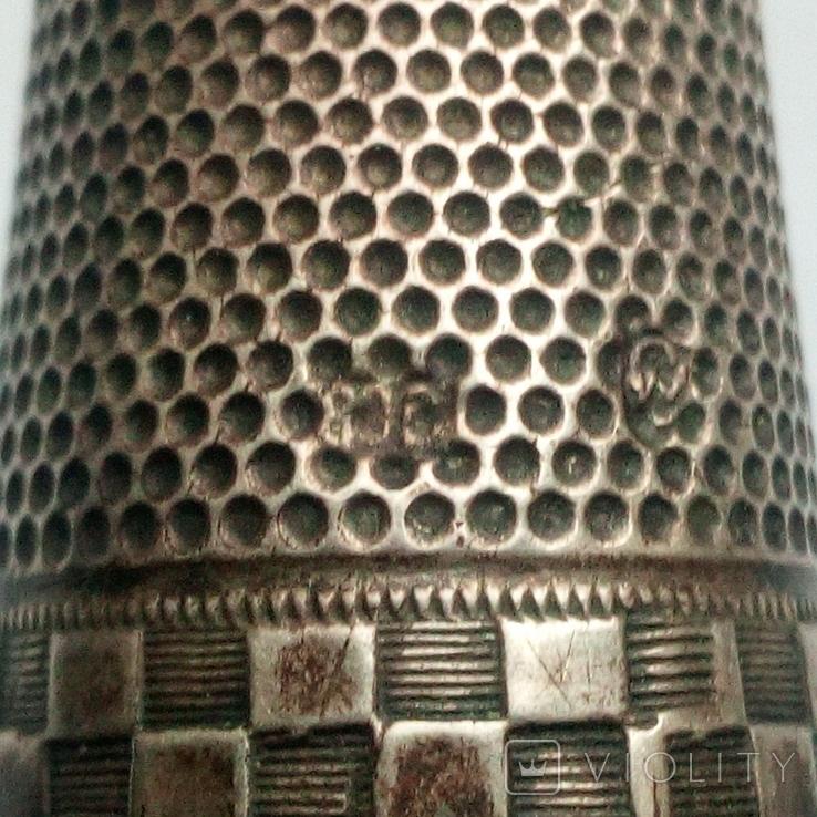 Наперсток старинный серебро Европа 800 проба, фото №10