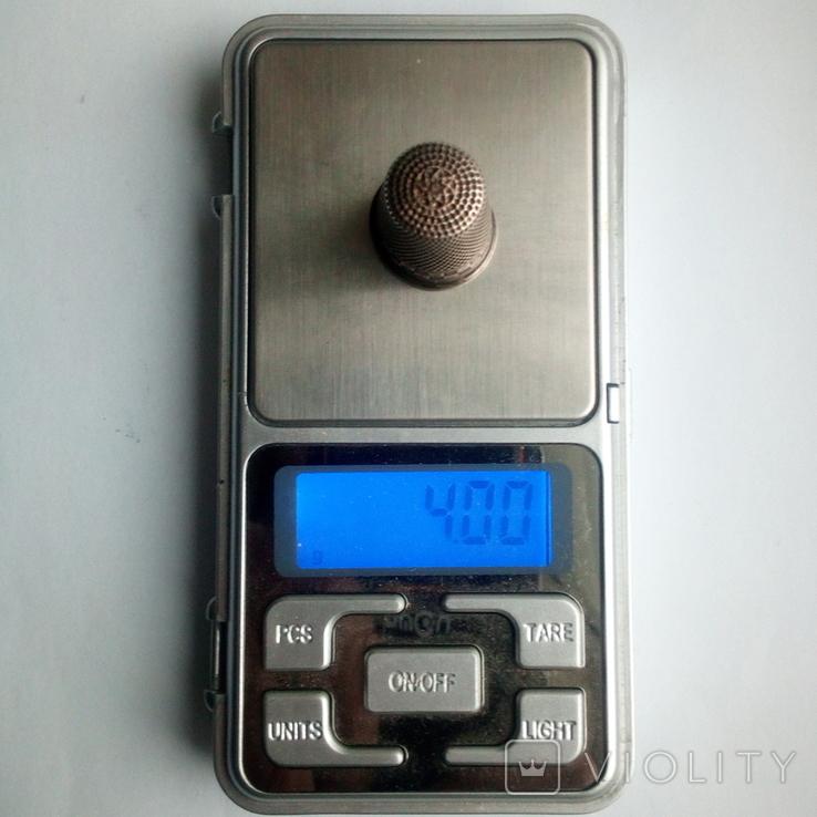 Наперсток старинный серебро Европа 800 проба, фото №11