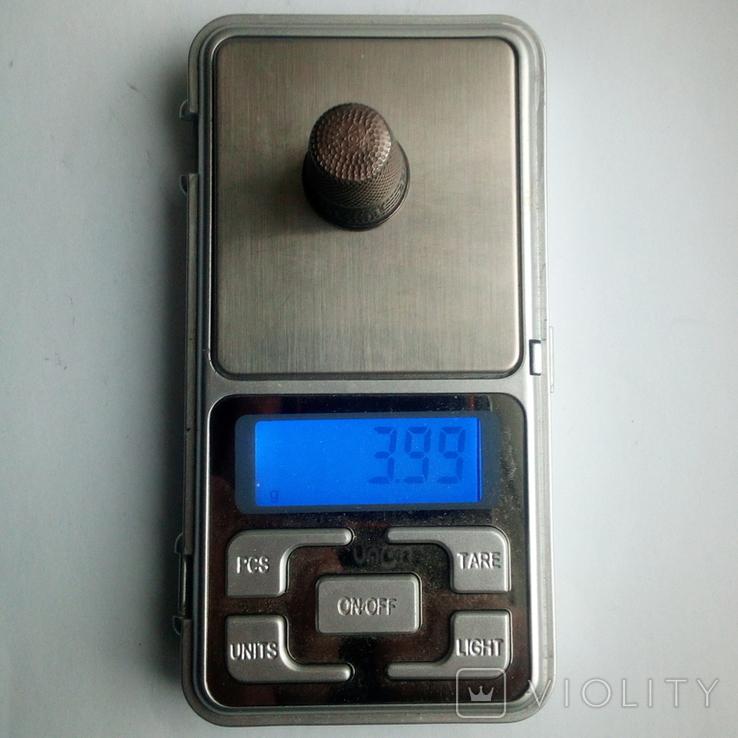 Наперсток старинный серебро Европа 925 проба, фото №11