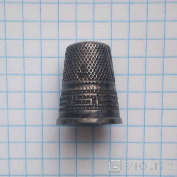 Наперсток старинный серебро Европа 925 проба, фото №12