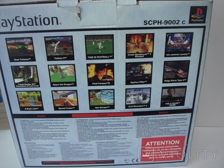 8 дисков на на 7 игр Sony PlayStanion + коробка для приставки, фото №12